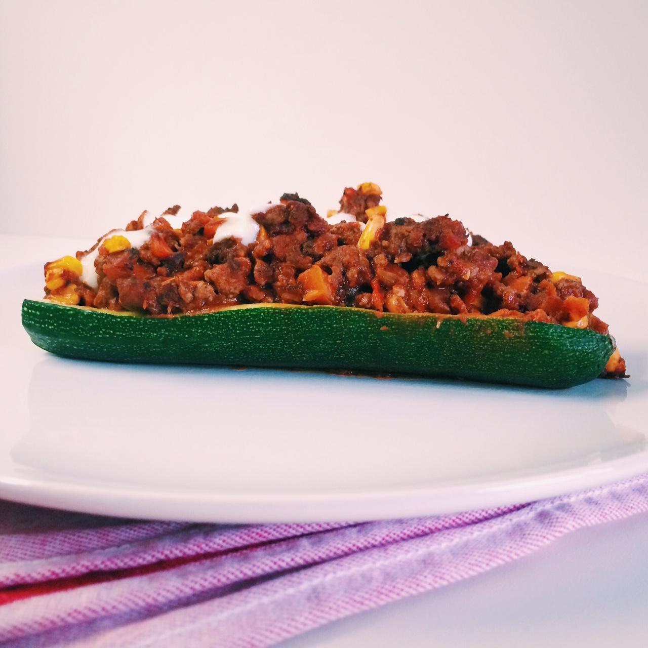Office Lunch – Zucchini Schiffchen