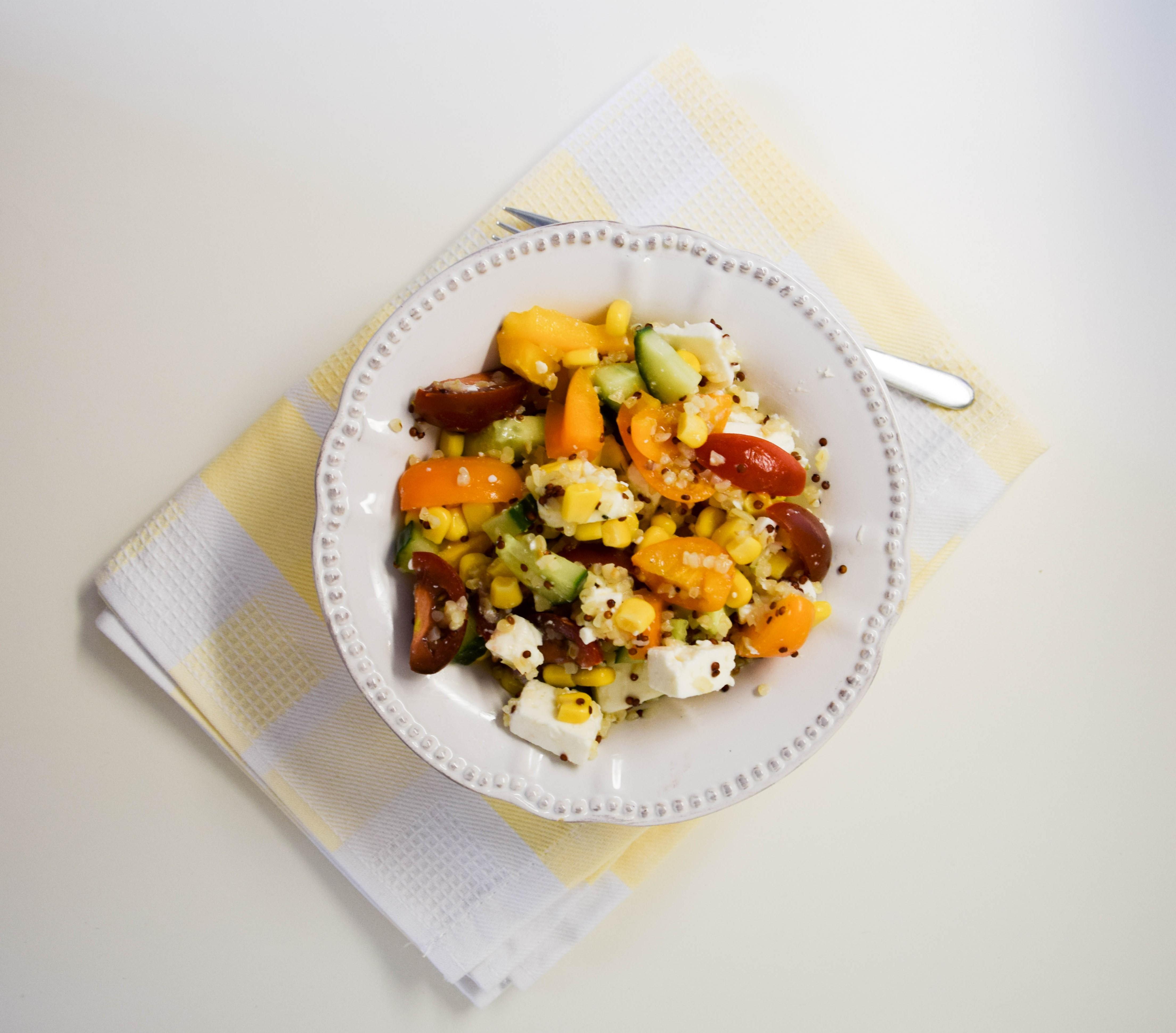 Office Lunch: Quinoa-Bulgur Salat