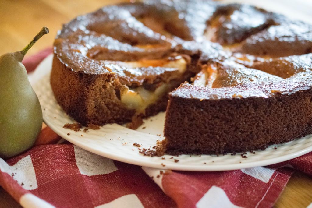 Schokolade Birnen Kuchen