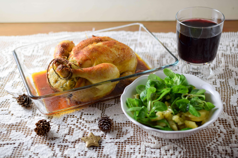 Weihnachtsmenü – Hauptspeise gefülltes Hendl
