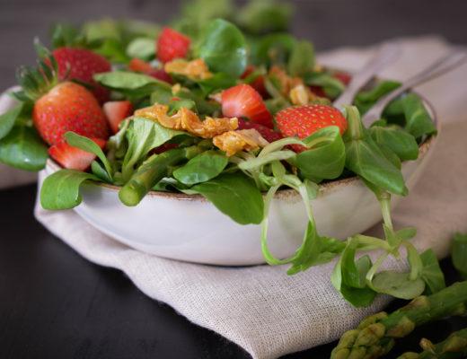 Erdbeer-Spargelsalat mintnmelon Babsi Sonnenschein 3