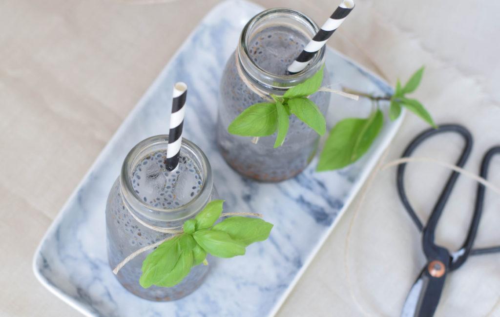 Drink mit Basilikum Samen mintnmelon Babsi Sonnenschein 11