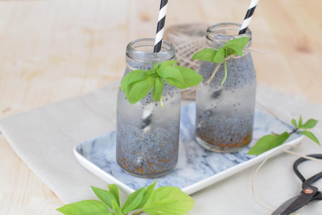 Drink mit Basilikum Samen mintnmelon Babsi Sonnenschein 6
