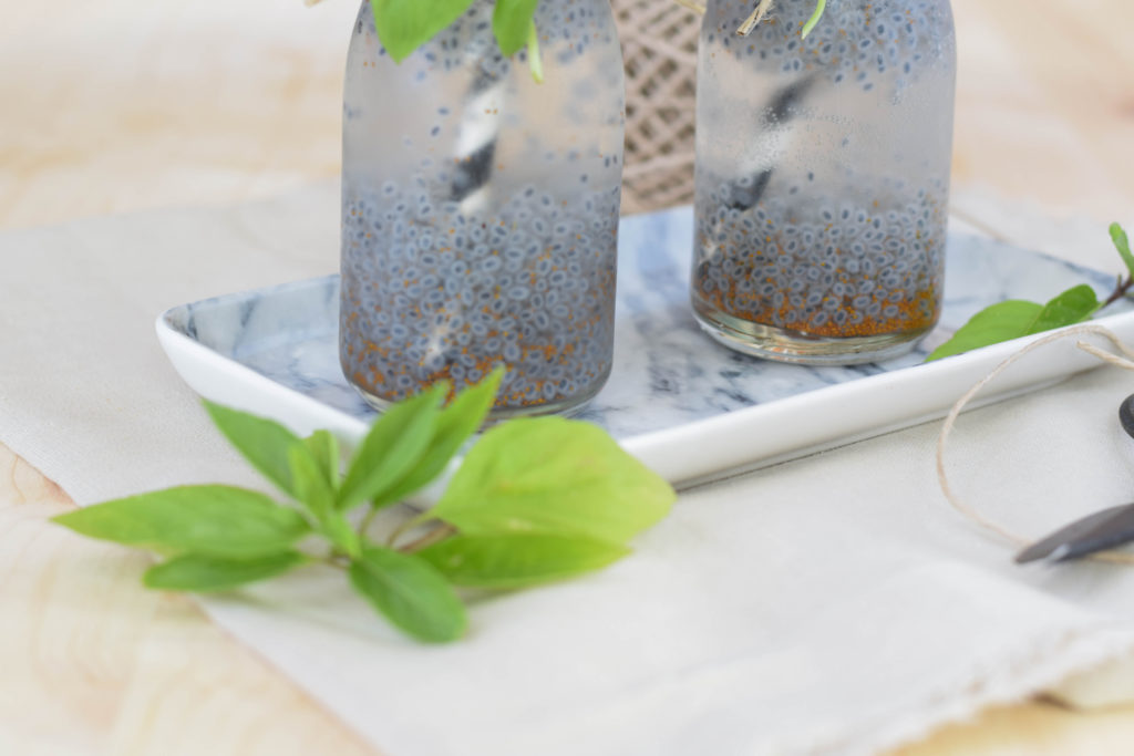 Drink mit Basilikum Samen mintnmelon Babsi Sonnenschein 8