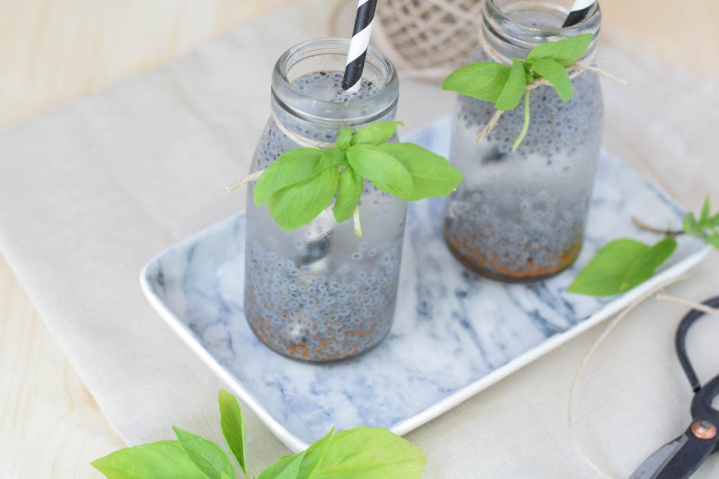 Drink mit Basilikum Samen mintnmelon Babsi Sonnenschein 9