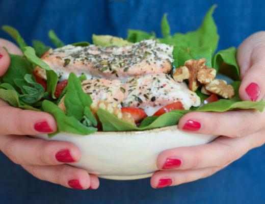 Erdbeer Lachs Salat mintnmelon by Babsi Sonnenschein 5