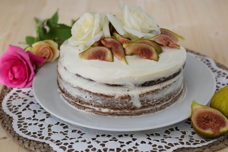 Ein schüchternes Feigen Naked Cake Rezept