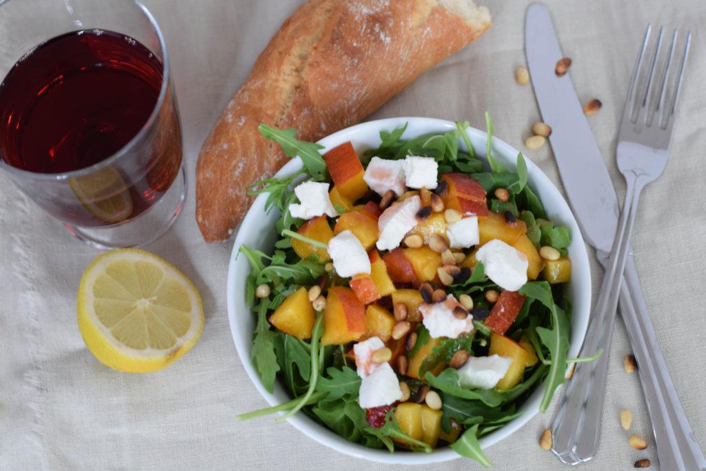 Sommersalat mit Nektarinen mintnmelon by Babsi Sonnenschein 2