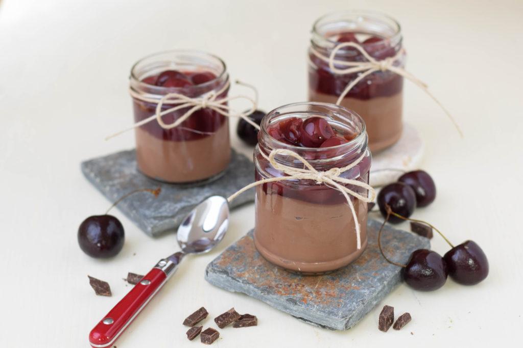 Schokolade Dessert im Glas mit Vanillekirschen mintnmelon by Babsi Sonnenschein 4
