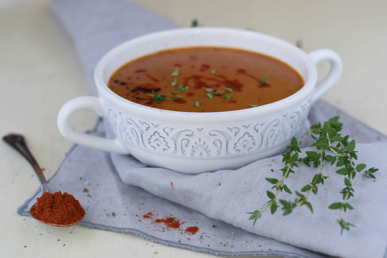 Vom Herbst geküsst: Linsen Kürbis Cremesuppe
