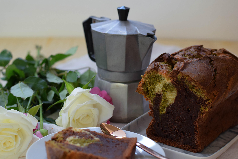 Sweet Monday – grüner Matcha-Marmorkuchen