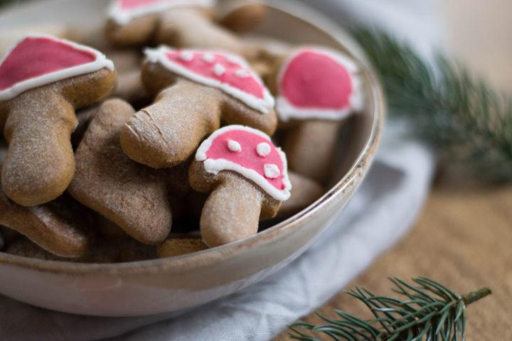 Köstliche Lebkuchen Neujahrsglücksbringer