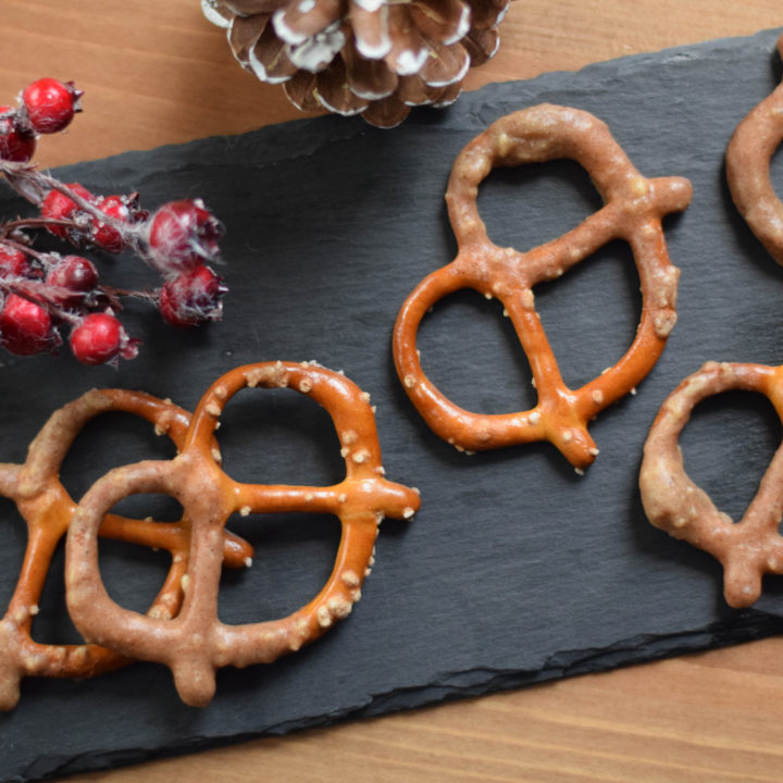 Silvestersnack – in Schoko getunkte Brezerl