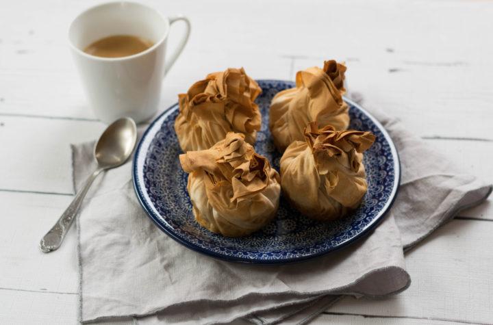 Apfelstrudelmuffins für Strudelteigliebhaber