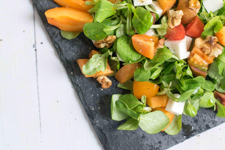 Marillen Ziegenkäse Salat