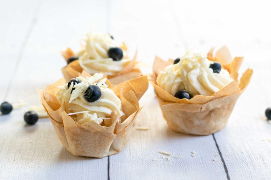 Schnelles Dessert: Weiße Schoko-Birnen-Rosmarin-Creme