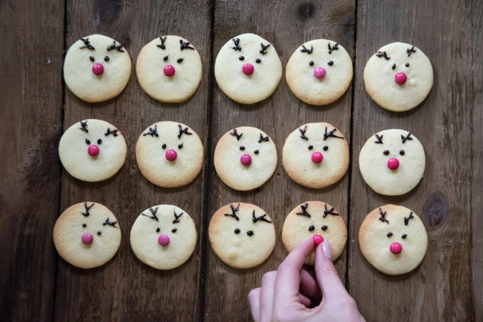Für ein bisschen Spaß am Keksteller: Süße Rentierkekse