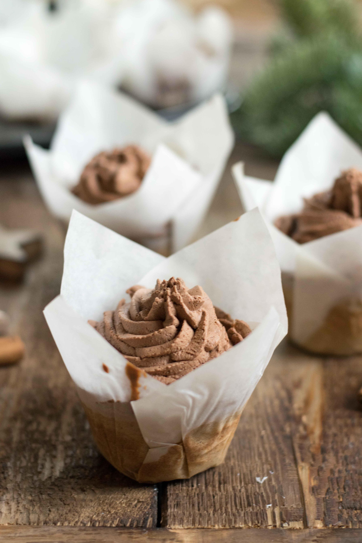 Für Lebkuchenliebhaber: Lebkuchen Cupcakes mit Zimt-Schokoladencreme