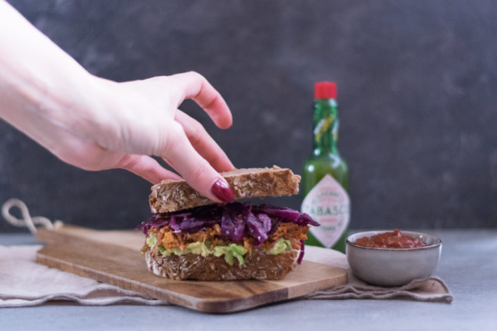Pulled Pork Sandwich mit Coleslaw