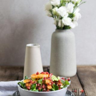 Bunter Winter-Salat mit Käferbohnen