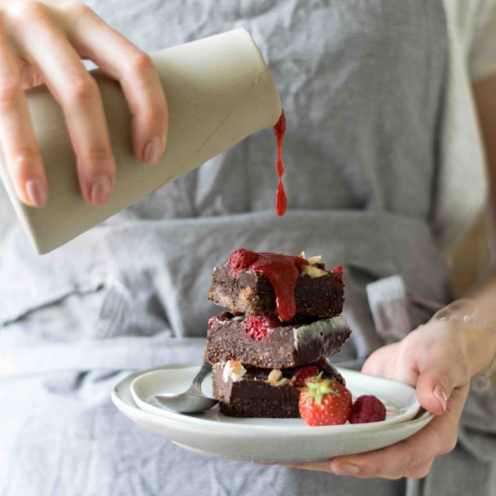 Raw Schokolade Brownies ohne Zucker #dubistzucker