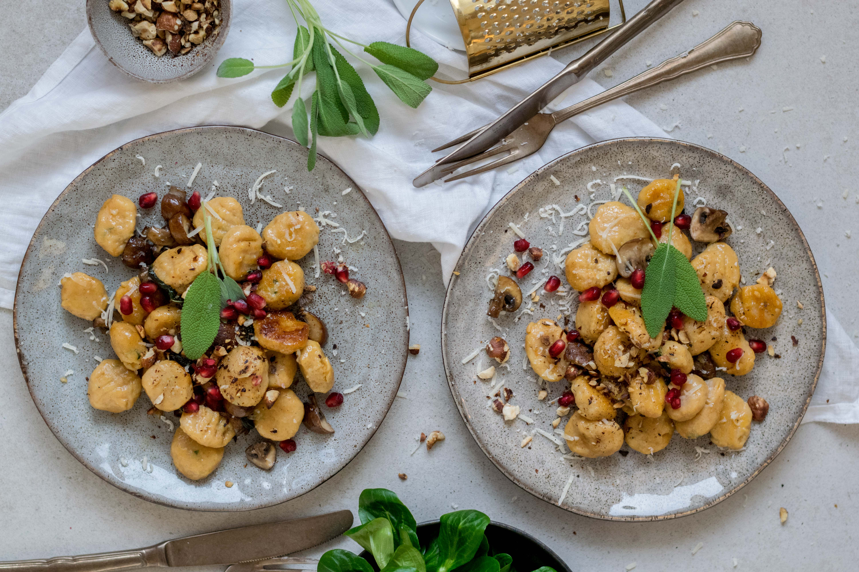 Mandel-Süßkartoffel-Gnocchi
