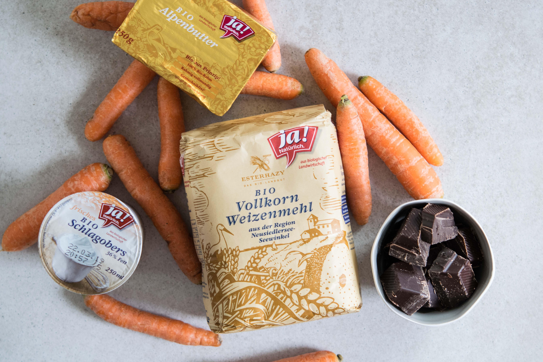 Schoko-Karottenkuchen mit Ganache