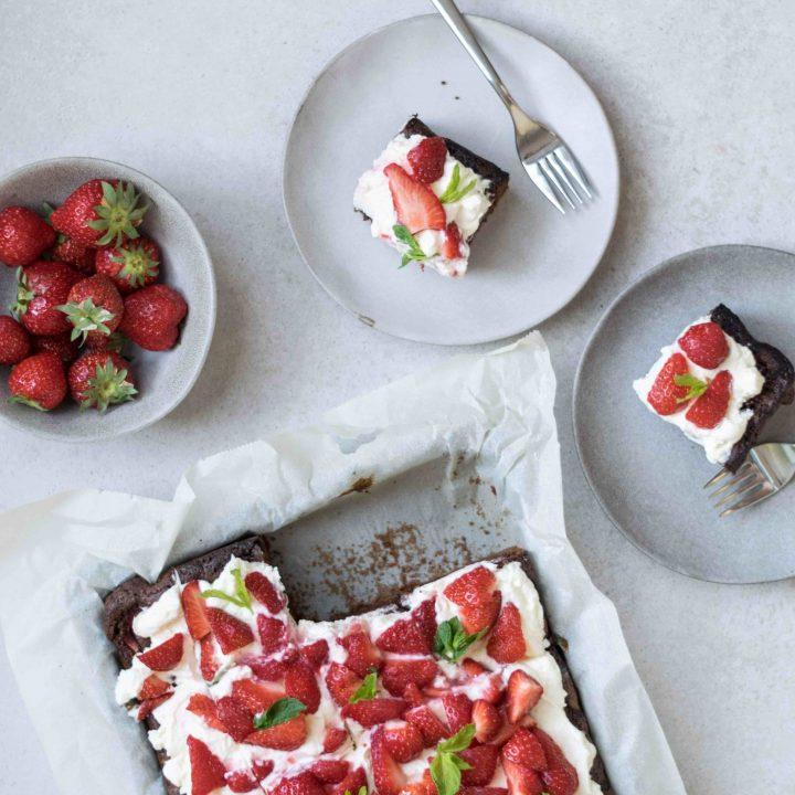 Erdbeere-Schoko-Kuchen mit Mascarponecreme