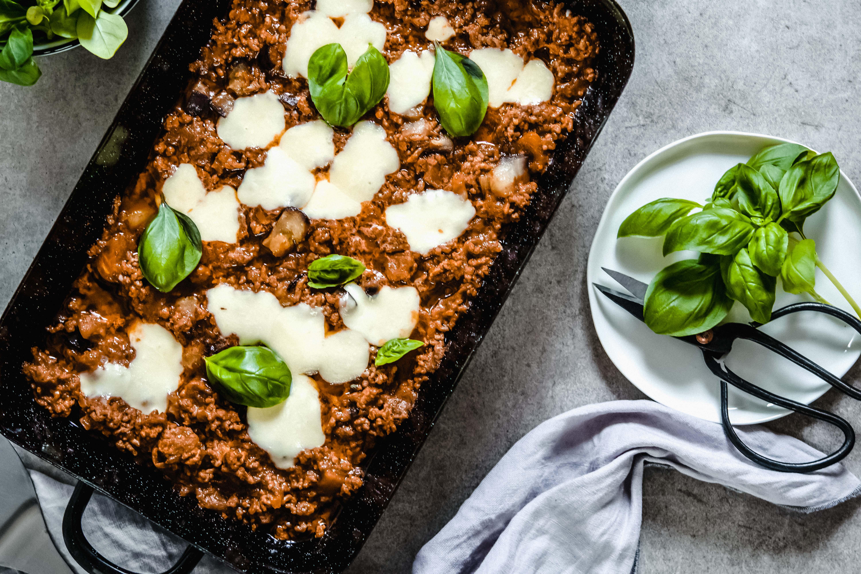 Faschierter-Gemüse-Auflauf mit Mozzarella