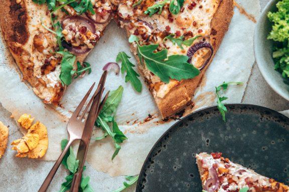 Eierschwammerl Pizza