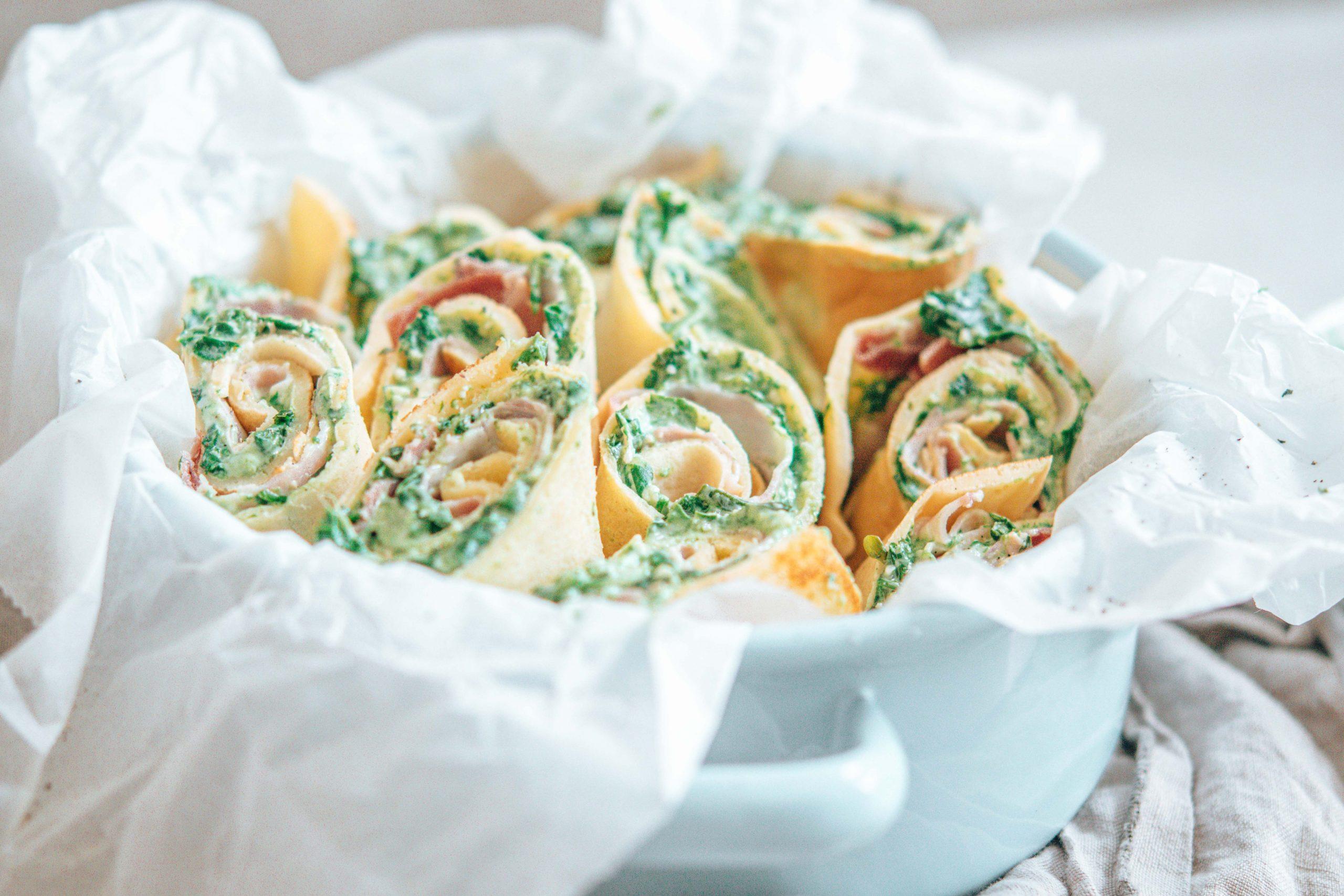 Spinat-Frischkäse-Palatschinken