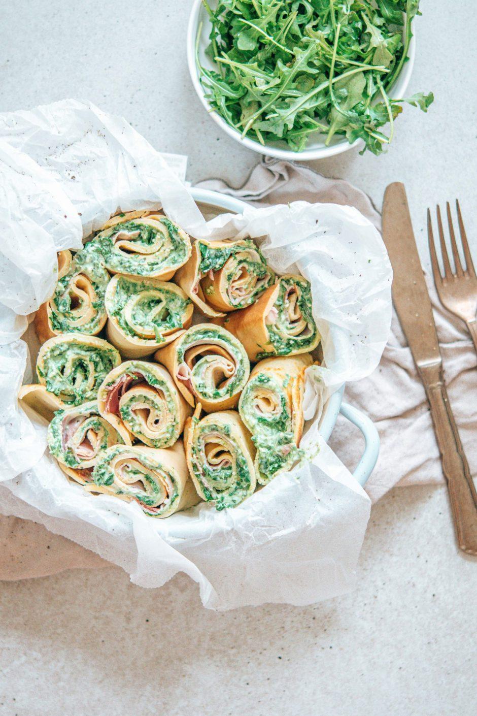 Spinat-Frischkäse-Palatschinken – schnell gemacht