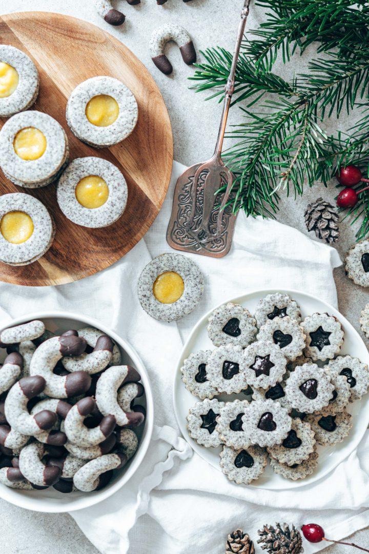 Weihnachtskekse mit Mohn: 1 Teig – 3 Kekssorten