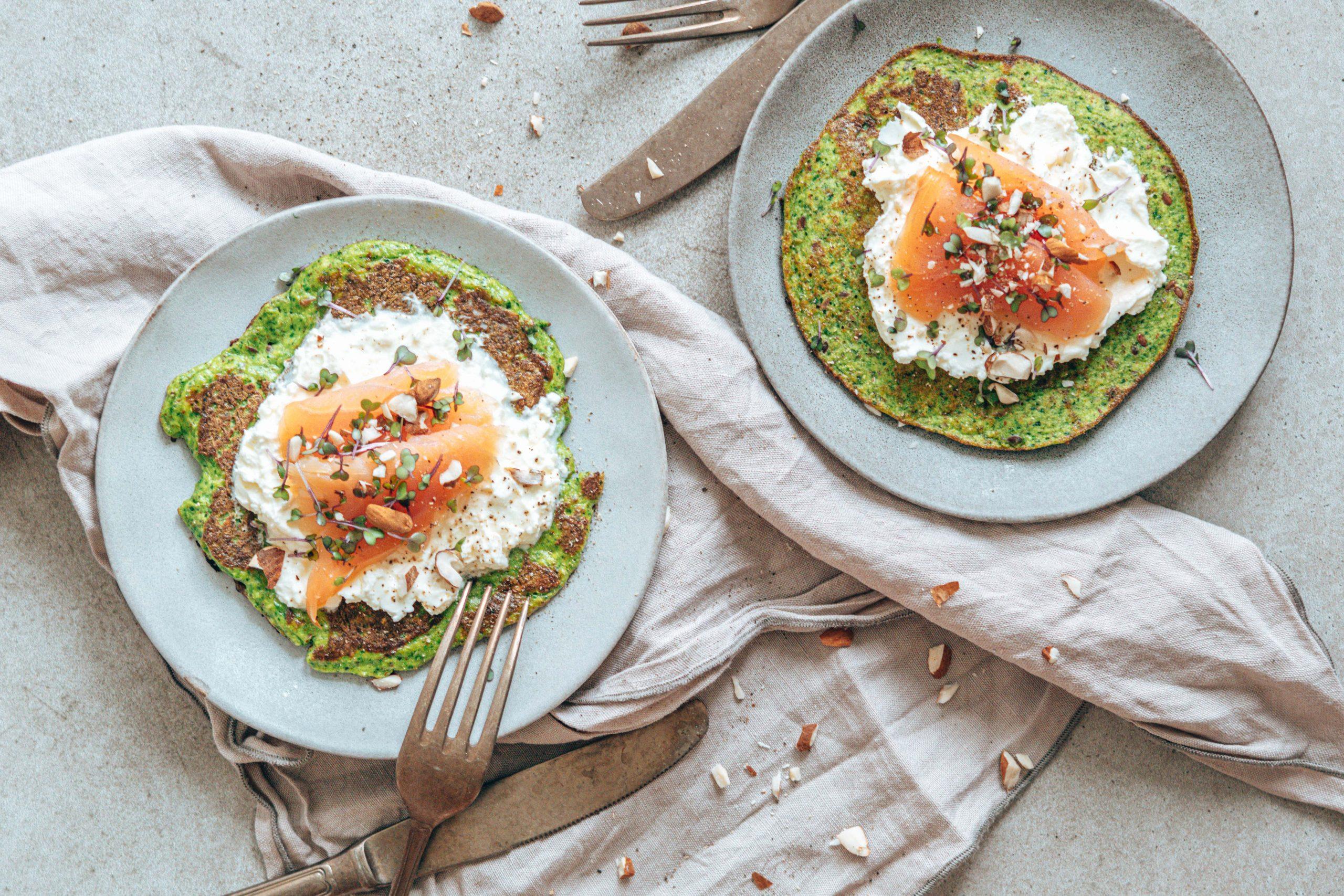 Zucchini Spinat Omelett